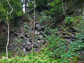 Basaltic fracture in Tharandter Forest